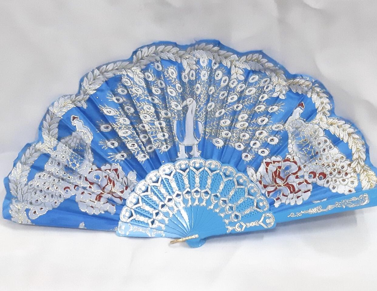 safimex handicraft Silk Fan design 06