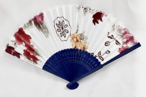 safimex handicraft Silk Fan design 03