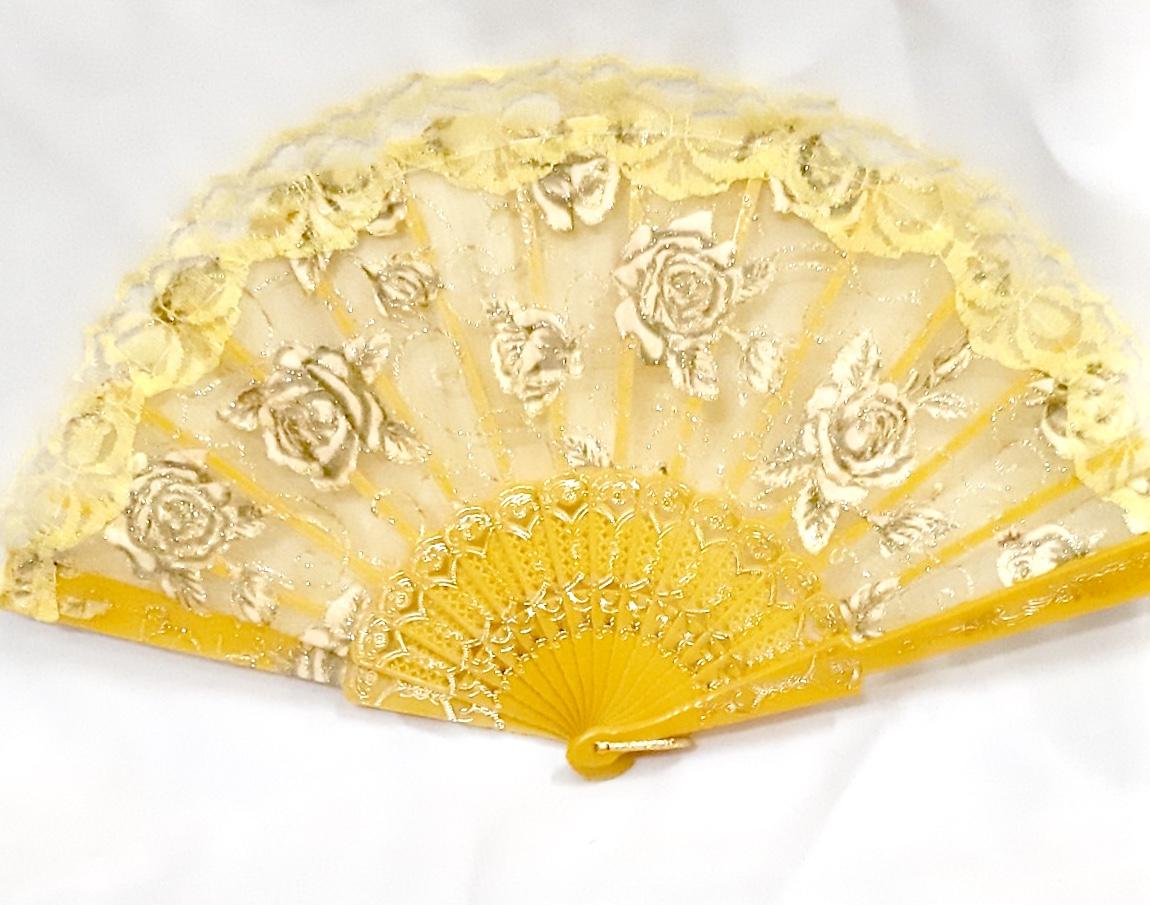 safimex handicraft Silk Fan design 04