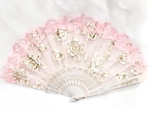 SAFIMEX Handicraft Silk Fan design 01