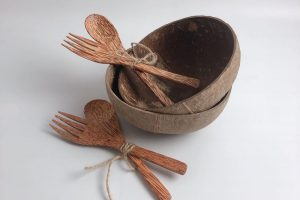 COCONUT CHOPSTICK FORK SPOON 2