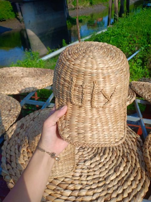 Water Hyacinth hat